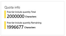Number of translations for the current month is in Azure